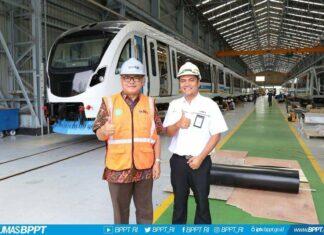 bentuk kereta LRT Palembang