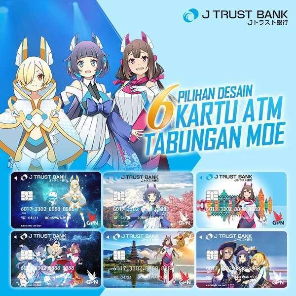 Jenis Kartu ATM Tabungan Moe - J Trust Bank