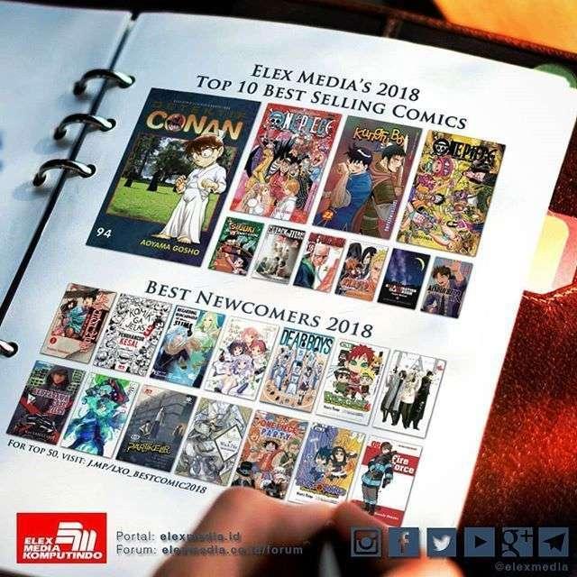 komik best seller 2018