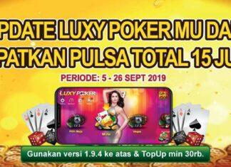 luxy poker bagi-bagi pulsa