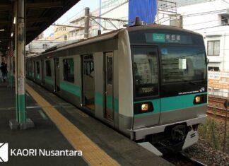 KRL seri E233-2000 di Jalur Joban yang akan dipasang ATO (KAORI Nusantara/Farouq Adhari)