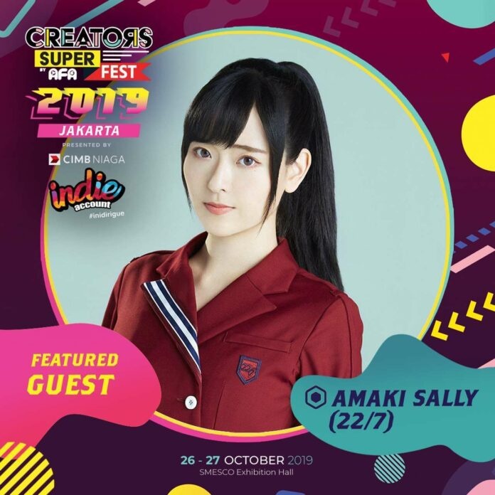 sally amaki 22/7 creators super fest 2019 jakarta