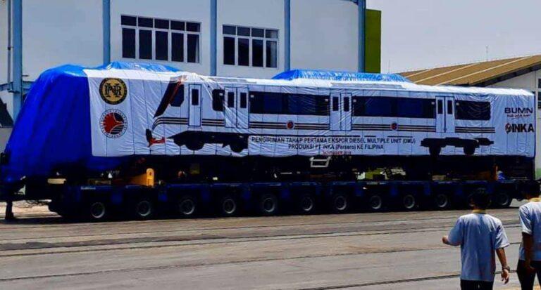 Rangkaian KRDE yang siap dikirim ke Filipina (PNR/Junn Magno)