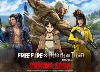 attack on titan x free fire