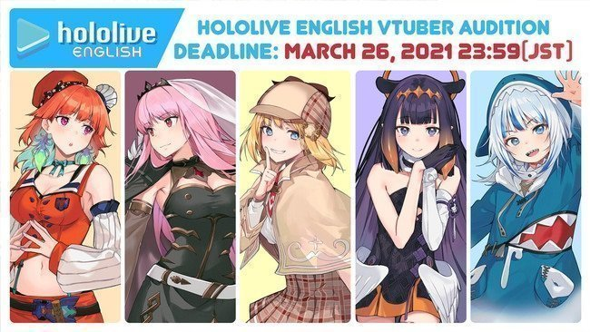 audisi hololive english generasi 2